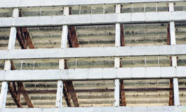 The frame of a building under demolition. Royalty Free Stock Photography