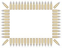 Frame of bullets. Royalty Free Stock Photo