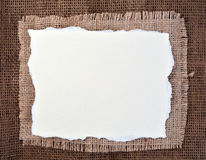 Frame of burlap Royalty Free Stock Images