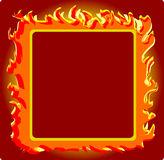 Frame_burning. Vector illustration -Frame_burning for desing Royalty Free Stock Photos