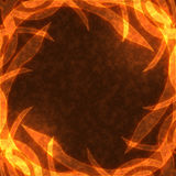 Frame of the burning elements. Abstract background Stock Photos