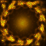 Frame of the burning elements. Abstract background Royalty Free Stock Image