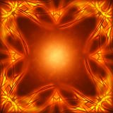 Frame of the burning elements. Abstract background Royalty Free Stock Photo