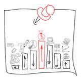 Frame of business sketches Royalty Free Stock Photo