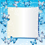 Frame with butterflies. Stock Image