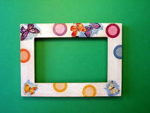 Frame and butterflies Stock Photography