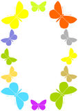 Frame with butterflies Stock Images
