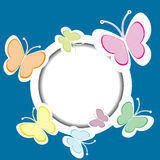 Frame with butterflies and place for your text Stock Image