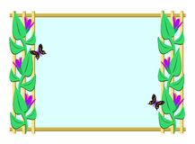 Frame of Butterflies and Trellis Royalty Free Stock Photography