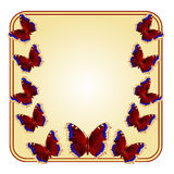 Frame with butterflies vector Stock Photography