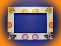 Frame with butterflies Stock Image