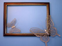 Frame and butterfly Stock Photography