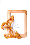 Frame with butterfly Stock Photography