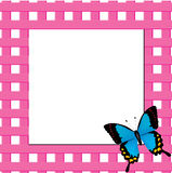 Frame with butterfly. Illustration of pink frame with butterfly Royalty Free Stock Photo