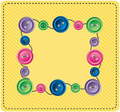 Frame button. The Beautiful frame in hutch with button. The Vector illustration Royalty Free Stock Image