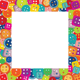 Frame of buttons for kids Stock Photos