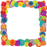 Frame of buttons for kids Stock Images