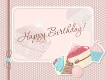 Frame with cakes Royalty Free Stock Image