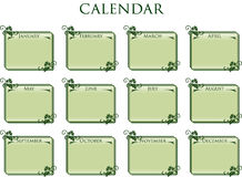 Frame calendar vintage style Royalty Free Stock Photo
