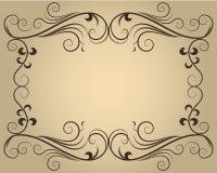 Frame caligráfico ornamentado Fotografia de Stock Royalty Free
