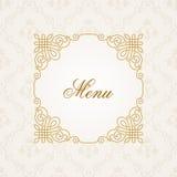 Frame caligráfico Texto elegante do vintage do vetor Imagens de Stock