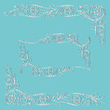 Frame calligraphic floral swirling  pattern Stock Image