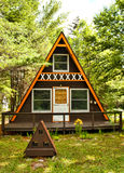 A-Frame Camp Stock Images