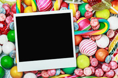 Frame for candies and chewing gum. Royalty Free Stock Image