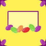 Frame with candy Royalty Free Stock Photo