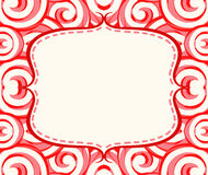 Frame with candy lollipops background. Frame with red candy lollipops background Royalty Free Stock Images