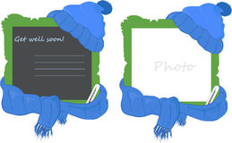 Frame with cap and scarf Stock Photography