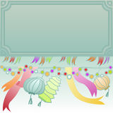 Frame with carnival decoration Stock Photography