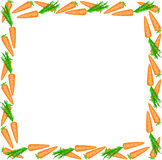Frame of carrots Stock Photo