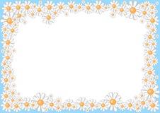 frame from cartoon daisies vector illustration