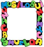 Frame with cartoon letters Royalty Free Stock Image