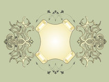 Frame_ cartouche. Decorative vintage frame with cartouche. Vector illustration Royalty Free Stock Images