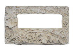 Frame Carving Clay of flower and leaf isolated Royalty Free Stock Image