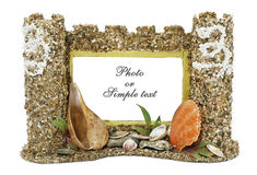 Frame castle for photo. Isolated Stock Images
