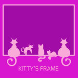 Frame from cats Royalty Free Stock Images