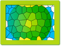 Frame with cellular design Stock Photography