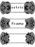 Frame in Celtic style Stock Images