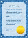 Frame certificate template Stock Photos