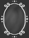 Frame on chalk borard Royalty Free Stock Photo