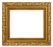Frame chapeado ouro decorado Foto de Stock
