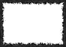 Frame from charcoal on white backgrounds Royalty Free Stock Images