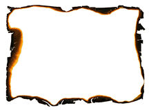 Frame with charred edges Royalty Free Stock Images