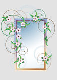 Frame with cherry blossom.Card.Frame Stock Photo
