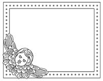 Frame with cherub in vintage style Royalty Free Stock Images