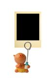 Frame for child photo. Retro frame for child photo isolated on white background Stock Photo