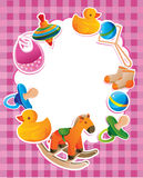 Frame with children toys. With blank space royalty free illustration